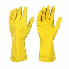 Household Latex All Purpose Gloves Flock Lined Extra Long Cuff M-XL