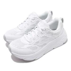 Skechers Max Cushioning Elite-Step Up White Silver Women Running Shoe 128044-WSL