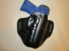 BERETTA 92 compact with rail,  formed leather pancake owb belt holster