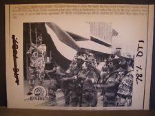 Persian Gulf War Press Wire Photo 1991 Kuwait Flag Raised