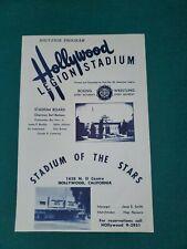 1954 Boxing/Wrestling Program- Hollywood Legion Stadium