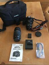 CANON EOS Rebel T5 EOS1200D Digital Camera W/ 2 Zoom Lenses Case Manual