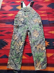 Mossy Oak Apparel Mens Camouflage Cotton Blend Hunting Bib Overalls Size 2XL