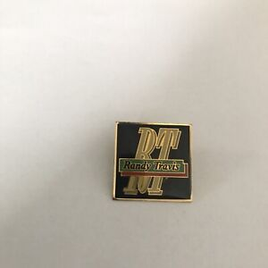 Randy Travis Vintage Enamel Metal Concert Pin Pinback Badge Nice