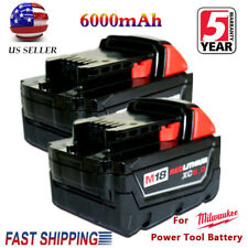 2XFor Milwaukee 48-11-1860 M18 18Volt 6.0 Amp Lithium-Ion Cordless Battery Pack