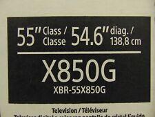"""Sony XBR-55X850G 55"""" Class HDR 4K Ultra HD Smart LED TV - XBR55X850G/C"""