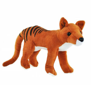 "Tasmanian Tiger Thylacine soft plush toy 9""/23cm Elka -NEW"