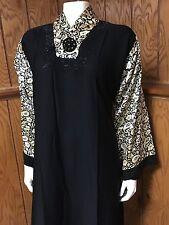 Beautiful Khaleeji Embellished Abaya Muslim Jilbab With Hijab Dubai Size L 58