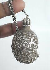 Indian Antique Mughal Silver Mango Snuff/Treasure Box Rare Collectible.G10-51 US