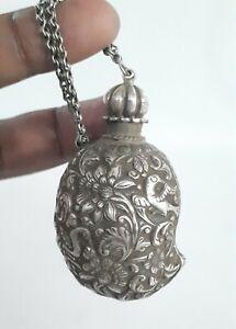 Indian Antique Mughal Silver Mango Snuff/Treasure Box Rare Collectible.G10-51