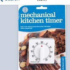 Kitchen Craft Wind Up Clockwork White 60 MinuteTimer