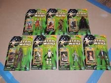 Star Wars POTJ Jedi Force File Action Figures Lot of 7 New- Darth Vader Maul
