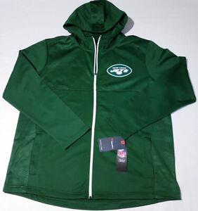 Fanatics NFL Men's XL New York NY Jets Football Hooded Full Zip Jacket Green