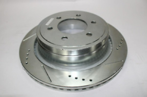 Rear Pass Side Drilled and Slotted Brake Rotor Fits 11-14 Ford Mustang 85148XR