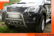 TOYOTA HILUX 2013+ TUBO PROTEZIONE MEDIUM BULL BAR INOX STAINLESS STEEL