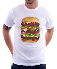 HAMBURGER CHEESEBURGER FUNNY CIBO BIG MAC COOL Stampato T-shirt di Cotone 9752
