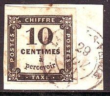 Taxe n° 2 Obl sur fragment