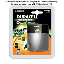 NEW Duracell Powerhouse USB Charger - Lithium ion battery and USB Cable - iPhone