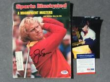 Jack Nicklaus Rare signed Sports Illustrated Masters Palmer PSA/DNA PROOF!!