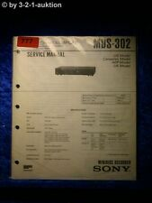 Sony Service Manual MDS 302 (#0777)