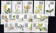 Turks- und Caicos-Inseln.1990. Blumen. Nr. 876-89, postfrisch