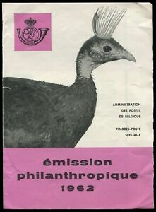 Belgium First Day of Issue Collectors Pamphlet with six bird stamps