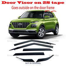 2S Tape Smoke Door Window Vent Visor Deflector ⭐6pcs⭐ Hyundai Venue 2020-2021