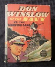 1938 Don Winslow Of The Navy Scorpion Gang Whitman Big Little Book Vg+