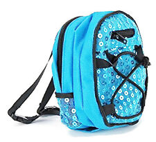 """Teal Sequin Backpack for 18"""" American Girl Doll Back-To-School Accessories"""