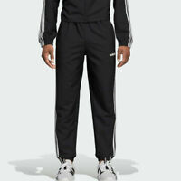 adidas Essentials Joggers Mens Small to 2XL Black 3 Stripe Woven Training Pants