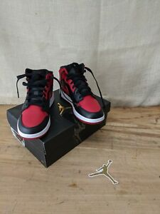 Air Jordan 1 Mid GS Size 6Y / 7.5 Women's/ 554725-074/Black/GymRed  AUTHENTIC