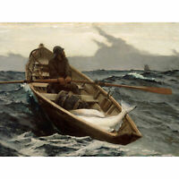Winslow Homer Fog Warning Painting Wall Art Canvas Print 18X24 In