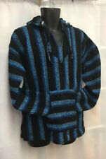 Poncho Baja Cienfuegos Hoodie Surfer Skater Drug Rug Pullover Made in Mexico-G/L