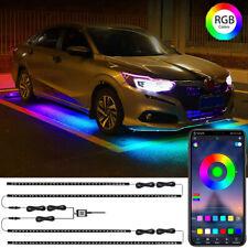 4X RGB LED Strip Light Kit Underglow Underbody Under Car Tube Phone APP Control
