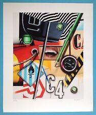 Peter KLASEN (1935) Digigraphie Signée crayon 30ex Art Op industriel 61x50cm