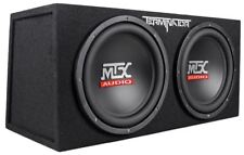 "MTX Terminator TNE212D 1200 Watt 2 Ohm Dual 12"" Subwoofers/Subs + Sealed Sub Box"
