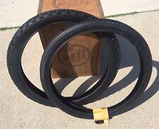 """Schwinn Stingray 20"""" S7 & S2 Knobby Black Tires Kenda Duro Super Deluxe"""