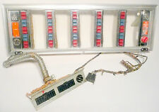 ROCK-OLA * 1442 JUKEBOX:  WORKING BUTTON ASSEMBLY with cables & jacks & glass