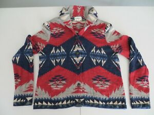Ralph Lauren Denim Supply Aztec INDIAN Southwestern Cardigan Sweater Very RRL