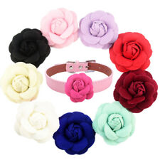 10Pcs Colored 7cm Fabric Flower Dog Collar Bow Accessories Bowtie For Pet Puppy