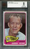 1965 topps #131 JOHNNY KEANE MG new york yankees BGS BVG 8
