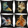 "18"" Goldfish fish Print Cotton Linen Cushion Cover Throw Pillow Case Home Decor"