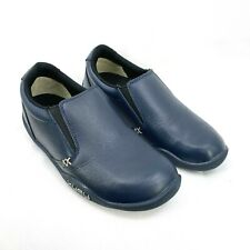 Kuru Kivi Women's Casual Slip On Navy Blue Leather Orthotic Comfort Shoe Size 6
