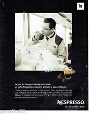PUBLICITE ADVERTISING 116  2010   le café Nespresso *