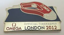 RARE ~ LONDON OLYMPICS 2012 OMEGA OFFICIAL TIMEKEEPER VIP PIN BADGE