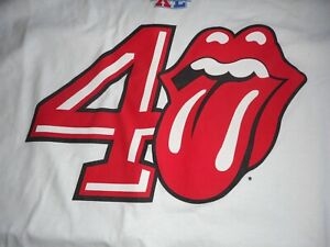2006 Halftime Concert ROLLING STONES Tongue & Lips Logo Super Bowl XL 40 T SHIRT