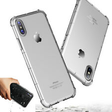 For Apple iPhone X Genuine Rock Clear Back Shockproof Case Slim TPU Bumper Cover