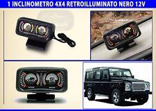 Inclinometro fuoristrada Land Rover Defender retroilluminato 12 volt Jeep rollio