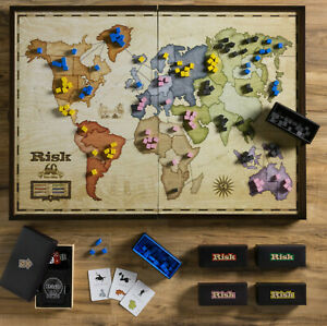 Winning Solutions Risk 60th Anniversary Deluxe Edition Wooden Board Game
