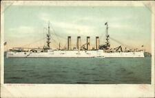 US Navy Battleship USS West Virginia c1910 Detroit Publishing Postcard